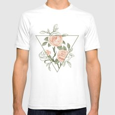 rose and roses White SMALL Mens Fitted Tee