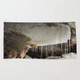T Rex in Ice Beach Towel