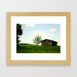 The front-yard house  Framed Art Print