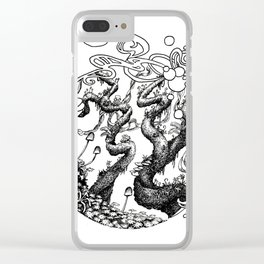 Epiphycadia IV: Circular Clear iPhone Case