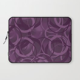 Seamless pattern with circles on purple background Laptop Sleeve