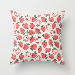 Strawberry Love Throw Pillow