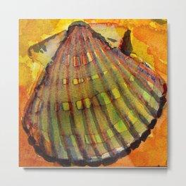 Scallop Shell Metal Print