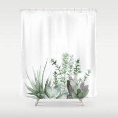 Succulent Shower Curtain
