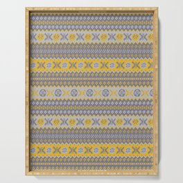 Granny's Fairisle - Honey Yellow Serving Tray