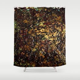 Encaustic Series - Mosaic Shower Curtain