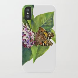 Butterfly & Lilacs iPhone Case