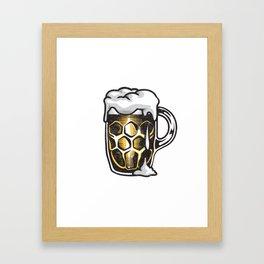 A Beer Mug Framed Art Print
