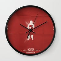 dexter Wall Clocks featuring DEXTER by Pedro Semedo