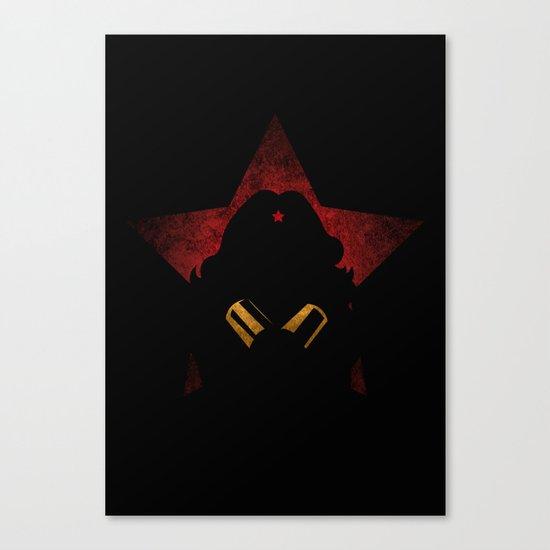 SuperHeroes Shadows : WonderWoman Canvas Print