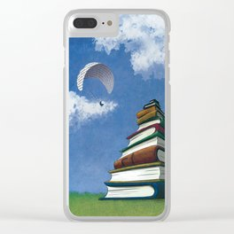 Paragliding - Mountain of Books Clear iPhone Case