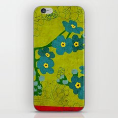 Flowers: Forget me not iPhone Skin