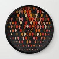 fall Wall Clocks featuring Fall by Last Call
