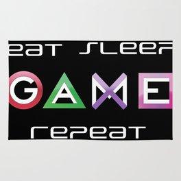 Eat, Sleep, Game, Repeat Rug