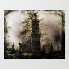 Old Cemetery Gate Canvas Print