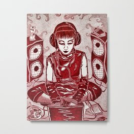 Internet Girl Metal Print