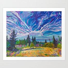 Lupine Views of Lake Superior Art Print