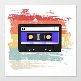 Retro Vintage Cassette Tape Canvas Print