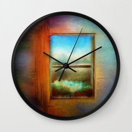 Window to Anywhere Wall Clock