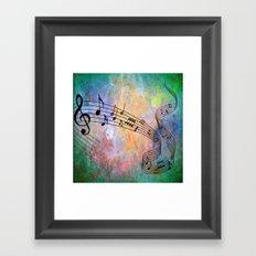 Abstract MUSIC Framed Art Print