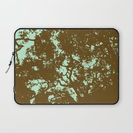 Mint and Brown Forest Laptop Sleeve