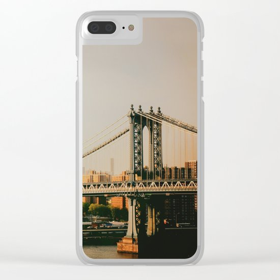 New York City Sunset Clear iPhone Case