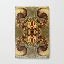 Milk Chocolate Swirls Metal Print