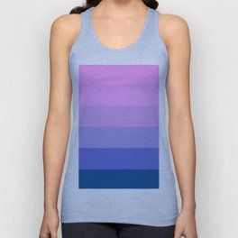 Elegant geometric pink lilac blue stripes pattern Unisex Tank Top