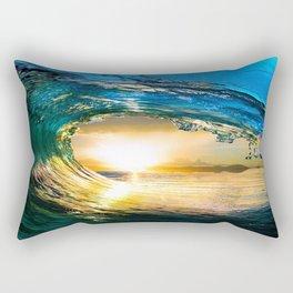 Glowing Wave Rectangular Pillow