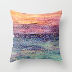 Looking through Lace Throw Pillow