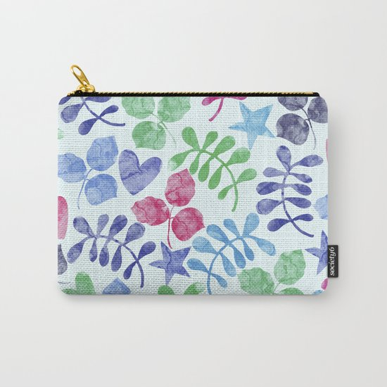 Watercolor Floral Pattern II Carry-All Pouch