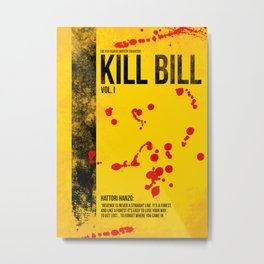 Kill Bill - Vol. I minimal movie poster Metal Print