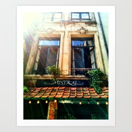 Cafe in Antwerp, Belgium Art Print