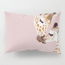 Giraffe mother and baby Pillow Sham