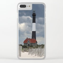 Fire Island Light From The Beach Clear iPhone Case