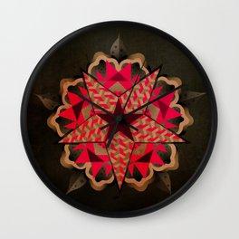 Star Pattern Wall Clock