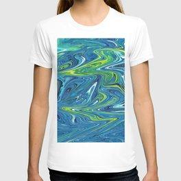 AQUAMARINE MARBLE SWIRL T-shirt