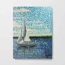 Sailing With Olivia Metal Print