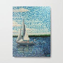 Sailing With Olivia Metal Print