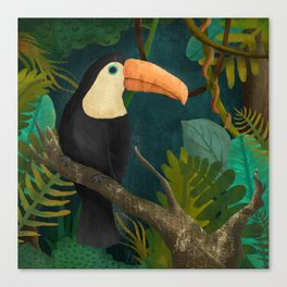 Toucan Bird in the Jungle Canvas Print