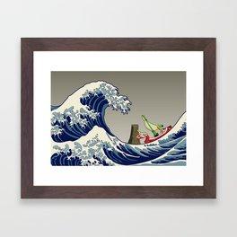 The Great Wave of Hyrule Framed Art Print