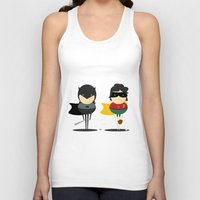 super heroes Tank Tops featuring Heroes & super friends! by Juliana Rojas | Puchu