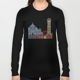 Ahmedabad skyline poster Long Sleeve T-shirt