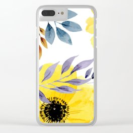 FLOWERS WATERCOLOR 10 Clear iPhone Case