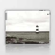Lighthouse - black and white Laptop & iPad Skin