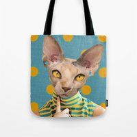 dot Tote Bags featuring DOT by Julia Lillard Art
