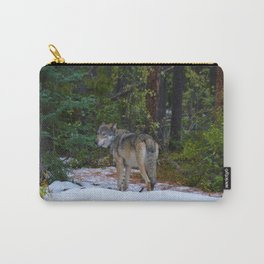 Wolf in Jasper National Park Carry-All Pouch
