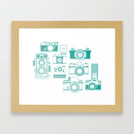 Old camera Framed Art Print