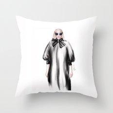 Fashion Illustration Throw Pillow