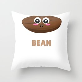 Where Have YOu Bean All My Life Cute Coffee Bean Pun Throw Pillow